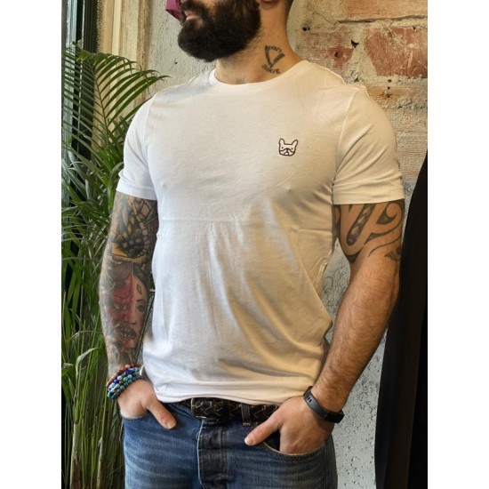 T shirt bouldogue bianca