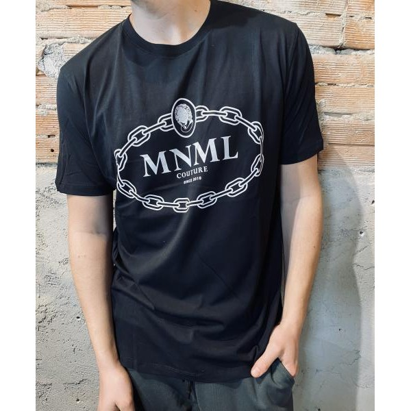 T shirt minimal nera