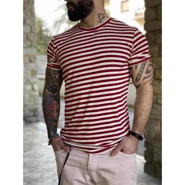 T shirt righe rosse