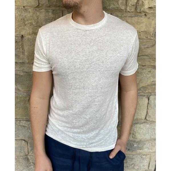 T shirt lino bianca od