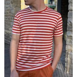 T shirt riga rossa od