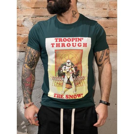 T shirt Natale star wars verde