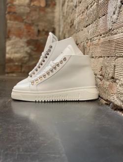 Sneakers alte rock bianca