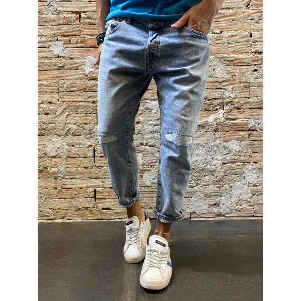 Jeans Cropped marmo