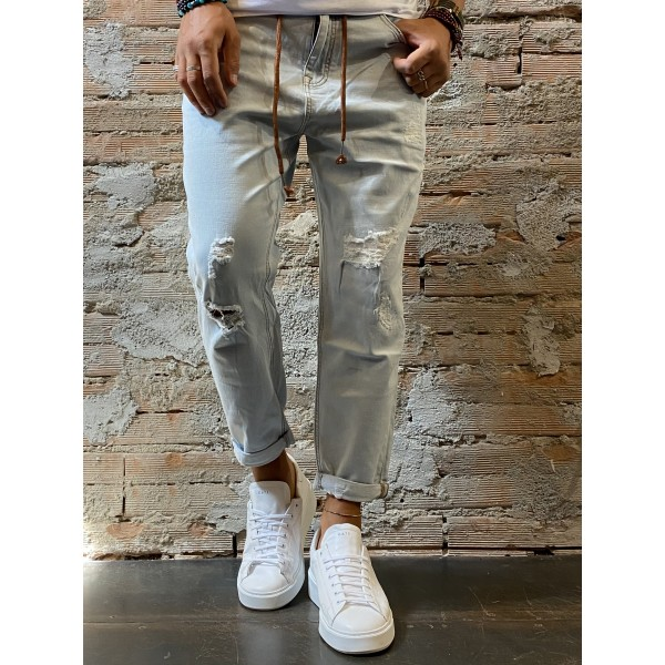 Jeans jogger Sky