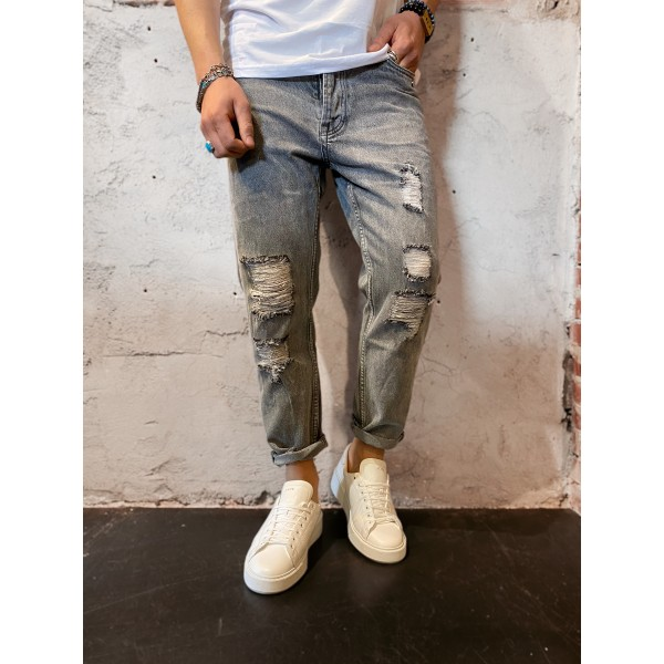 Jeans grey carrot