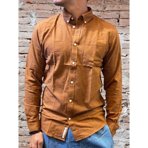 Camicia solid marrone