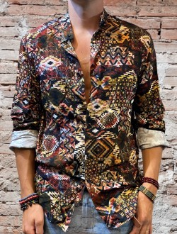 Camicia patch indie