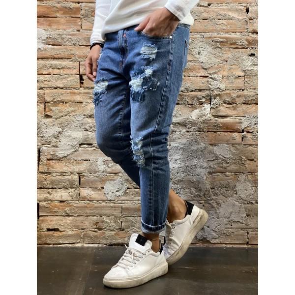 Jeans blu cut