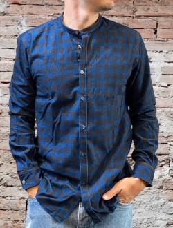 Camicia quadri velv blu
