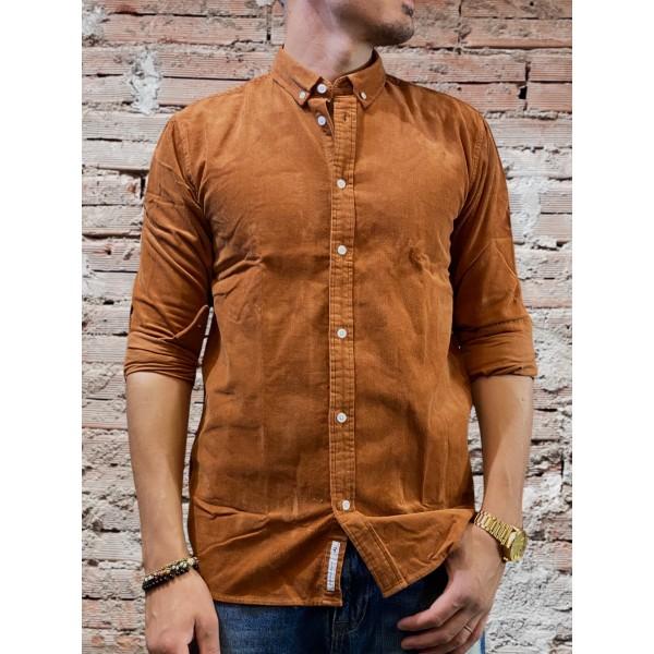 Camicia vellutone marrone