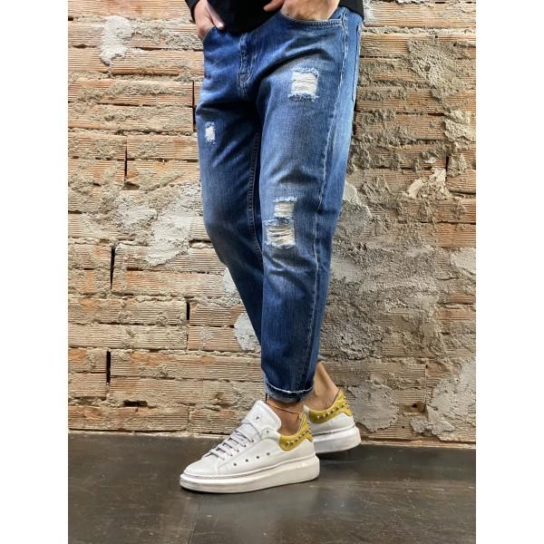 Jeans crop 80s